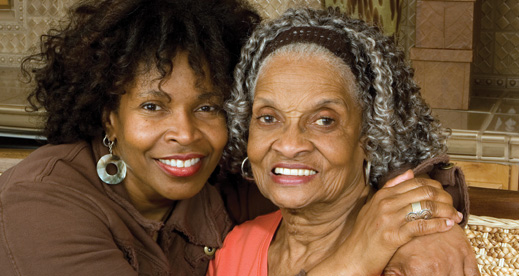 African American woman and her mother