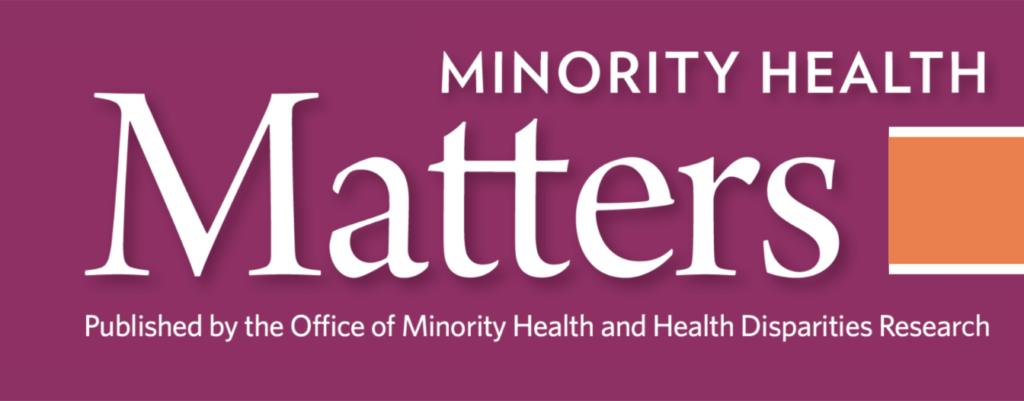 newsletter logo Minority Health Matters