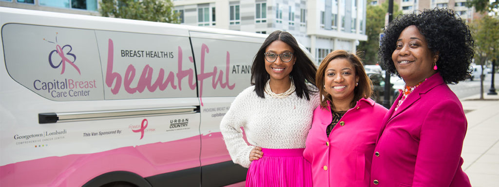 Capital Breast Care van with navigators